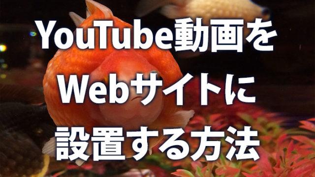 YouTube動画をウェブサイトに設置する方法