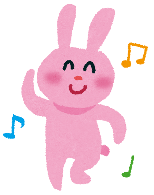 いらすとや 踊っているウサギのイラスト