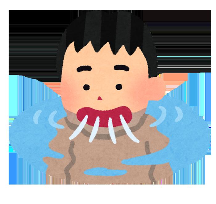 プールの水を飲む人のイラスト いらすとや