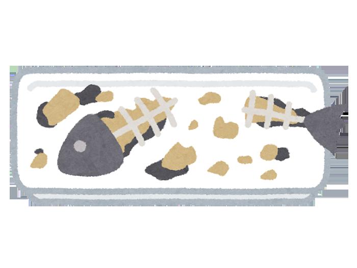 いらすとや きたなく食べられた魚のイラスト