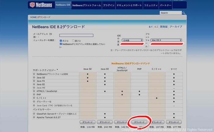 ネットビーンズ日本語版のダウンロード方法その3