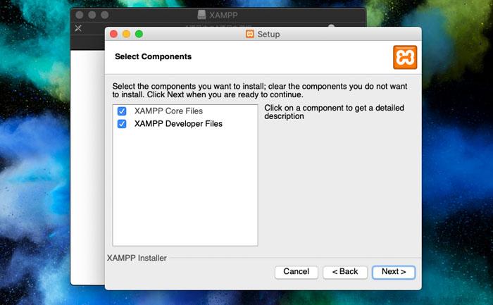Mac版XAMPPのインストーラを起動
