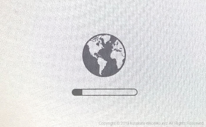 MacのOSを再インストールする方法2『command(⌘)』+『R』+『option』を押しながらMacを起動する