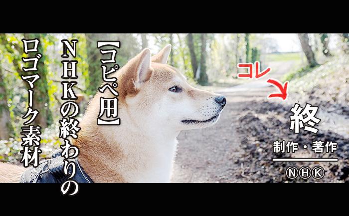【コピペ用】制作・著作NHKの終わりのロゴ素材【Twitterのやつ】